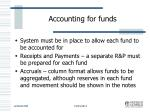 accounting for funds