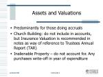 assets and valuations