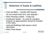 statement of assets liabilities
