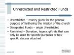 unrestricted and restricted funds