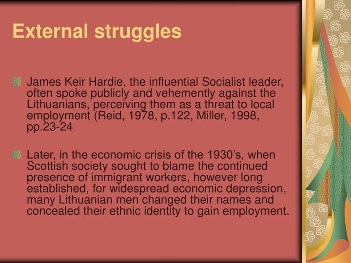 External struggles