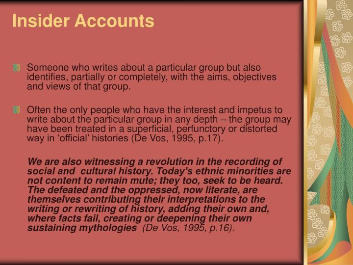 Insider Accounts