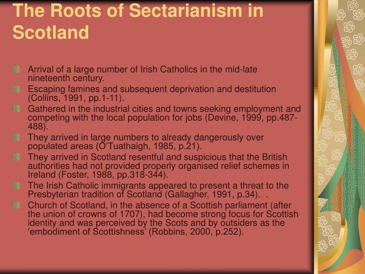 The Roots of Sectarianism in Scotland