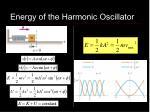 energy of the harmonic oscillator12