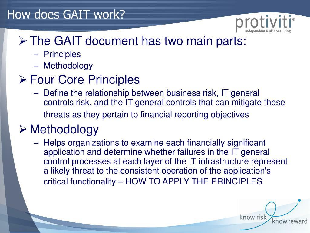 How does GAIT work?