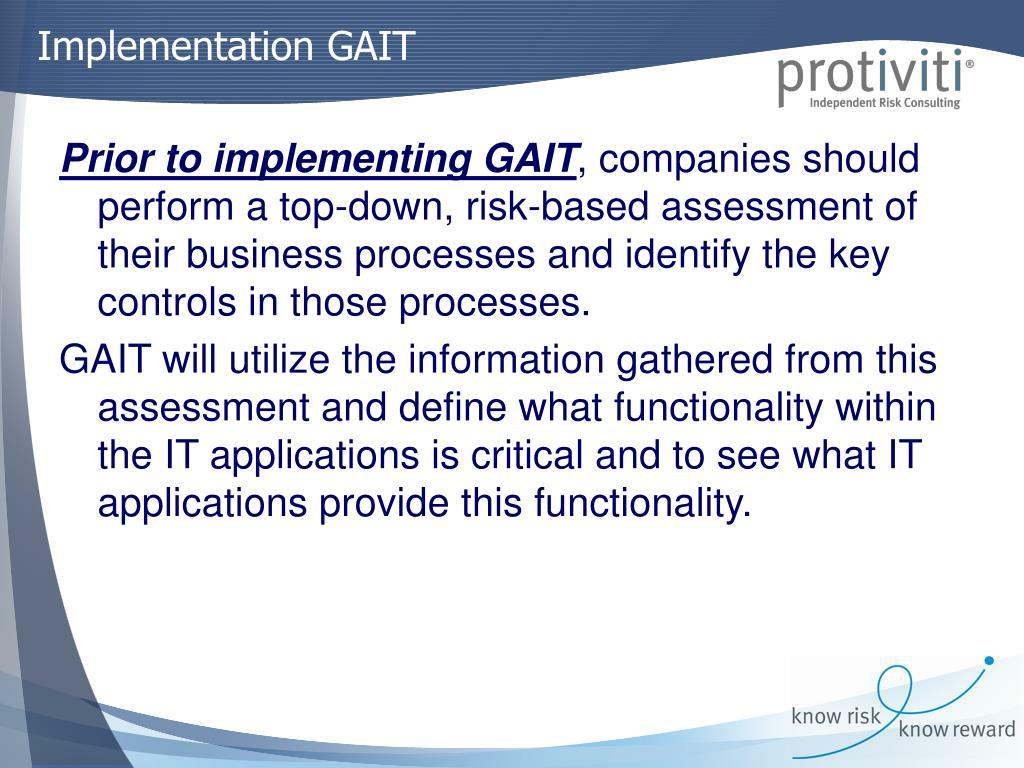 Implementation GAIT
