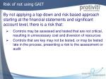 risk of not using gait