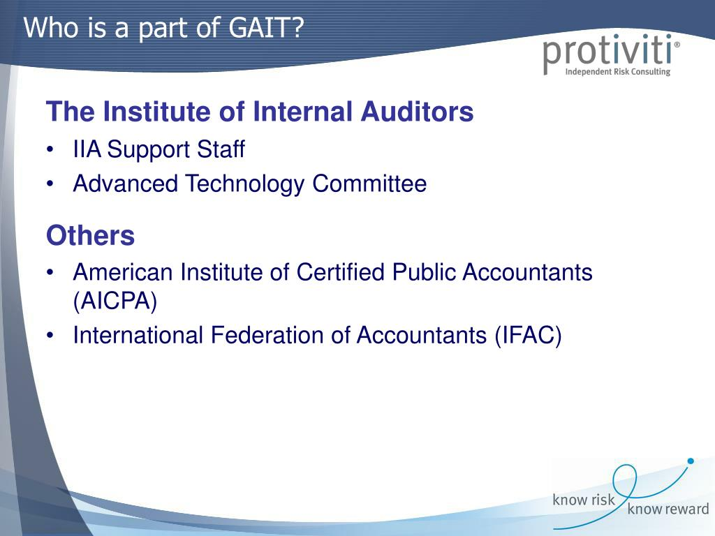 Who is a part of GAIT?