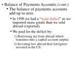 balance of payments accounts cont