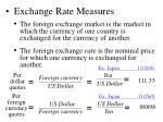 exchange rate measures