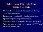 take home concepts from today s lecture
