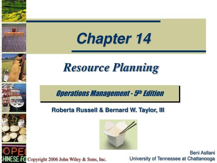 resource planning n.
