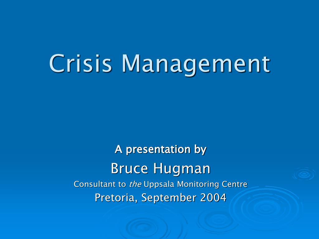 crisis management l.