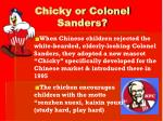 chicky or colonel sanders11