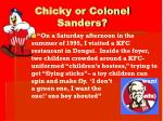 chicky or colonel sanders12