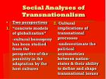 social analyses of transnationalism
