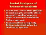 social analyses of transnationalism5