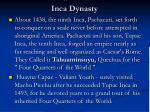 inca dynasty