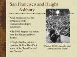 san francisco and haight ashbury