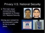 privacy v s national security
