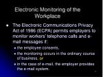 electronic monitoring of the workplace