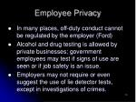 employee privacy