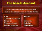 the assets account
