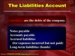 the liabilities account