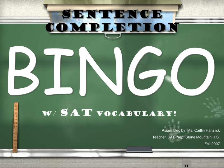 sentence completion n.