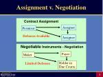 assignment v negotiation