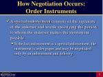 how negotiation occurs order instruments7