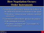 how negotiation occurs order instruments8