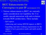 bicc enhancements for convergence to pure ip environment 1 2