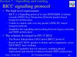 bicc signalling protocol