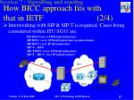 how bicc approach fits with that in ietf 2 4