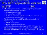 how bicc approach fits with that in ietf 3 4