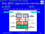 how bicc approach fits with that in ietf 4 4