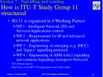 how is itu t study group 11 structured
