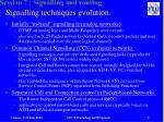 signalling techniques evolution