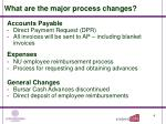 what are the major process changes