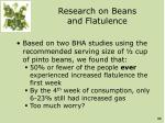 research on beans and flatulence