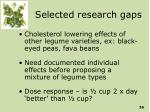 selected research gaps