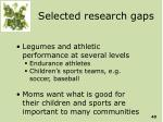 selected research gaps40