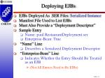 deploying ejbs