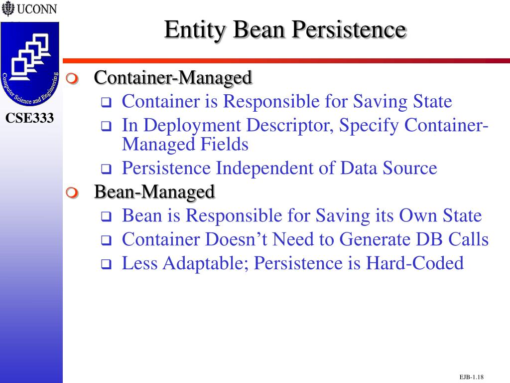 Entity Bean Persistence