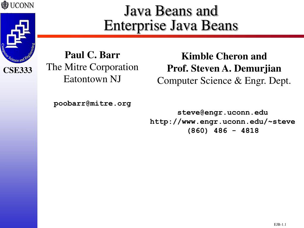 java beans and enterprise java beans l.