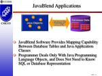 javablend applications