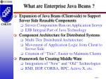 what are enterprise java beans