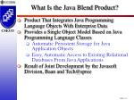 what is the java blend product