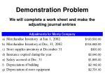 demonstration problem21
